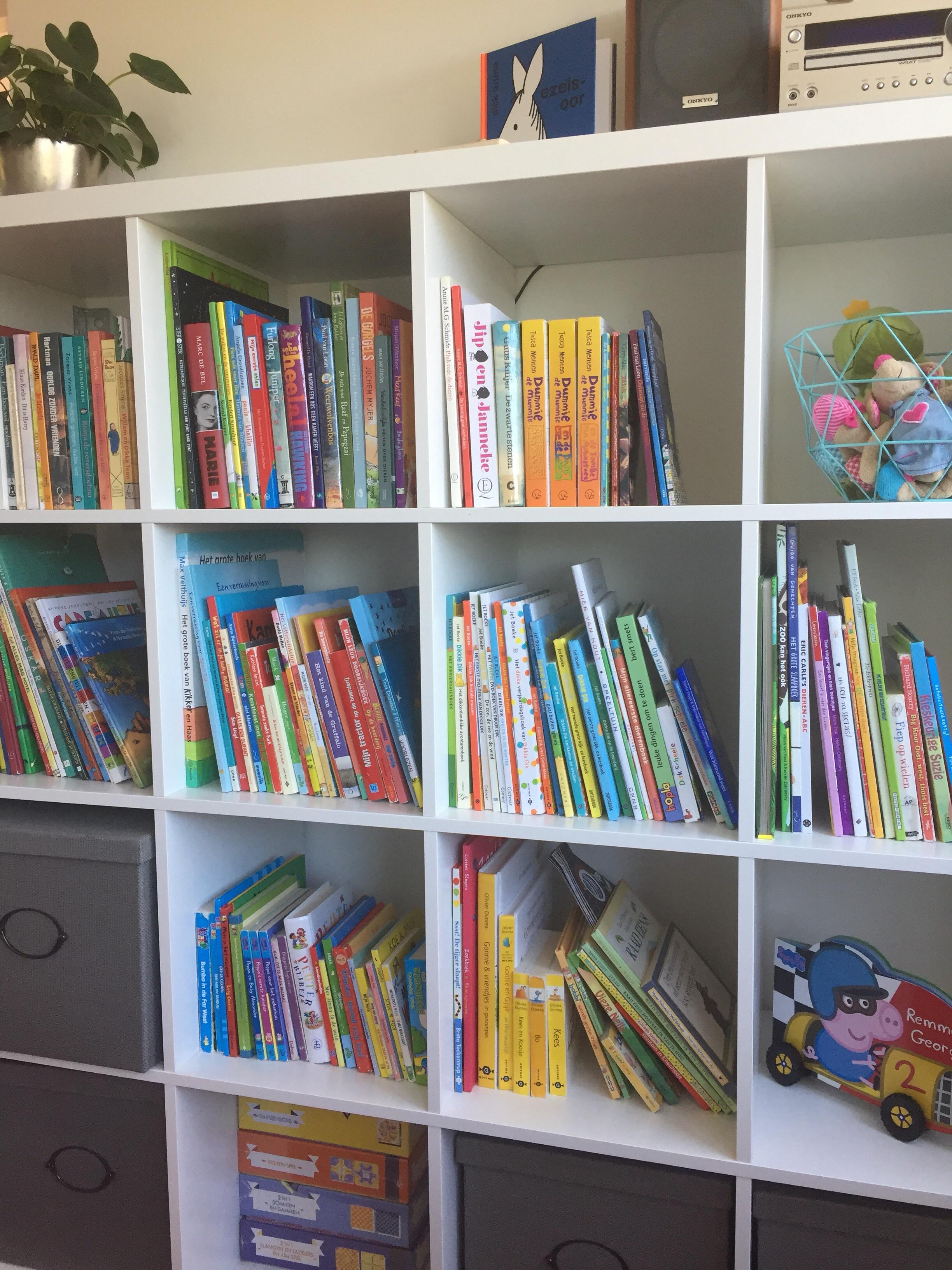 Boekenkast kinderboeken